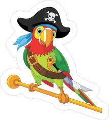 5in X 4 25in Pirate Parrot Bumper Sticker Decal Vinyl Car Window Stickers Decals Stickertalk