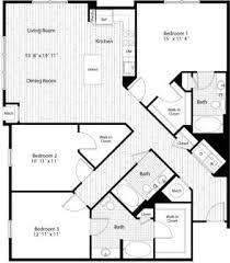 3 bedroom 3 bath floor plan
