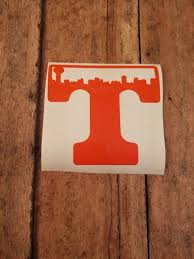 University Of Tennessee Power T Decal Knoxville Skyline Yeti Rtic Ozark Decal Car Decal University Of Tennessee Tennessee Car Decals