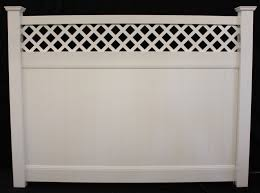 Privacy Vinyl Lattice Top Vinyl Fence Panel Buyvinylfence Com