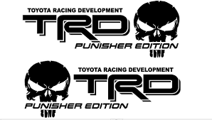 Product 2 Truck Car Decal Trd Punisher Edition Alternate Vinyl Decal Outdoor Vinyl