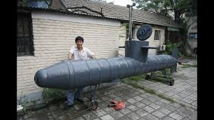 chinese inventor s home made submarine