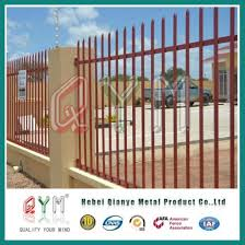 China Pvc Rolled Palisade Picket Fence Steel Palisade Fence Panel China Palisade Fencing And Palisade Fence Price