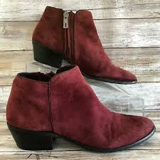 burdy suede ankle boot casual zip