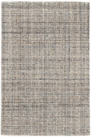 harris blue brown micro hooked wool rug