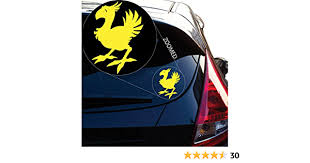 Amazon Com Chocobo Final Fantasy 7 Decal Sticker For Car Window Laptop Room 5 5 Inches Yellow Arts Crafts Sewing