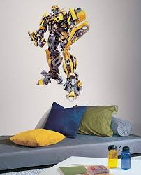 Transformer Wall Decal Bumblebee Giant Wall Sticker Decor Party Decoration Bumblebee Giant Amazon Com