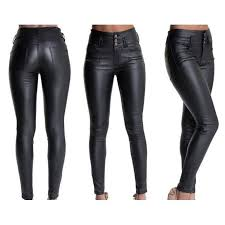 y fashion women skinny leather jeans