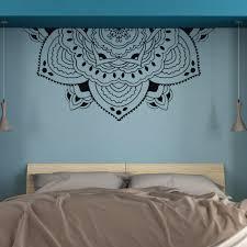 Meditation Half Mandala Wall Art Mural Half Mandala Headboard Vinyl Decals Half Mandala Flower Wall Sticker Bedroom Decor Az309 Wall Stickers Aliexpress