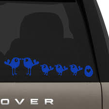 Bird Family Car Decal The Decal Guru