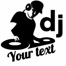 Dj Music Custom Text Vinyl Decal Sticker For Cars Laptops And More Ebay