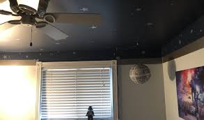 Outer Space Kids Bedroom Walls And Ceiling Neverdonewithfun