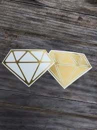 Diamond Vinyl Decals In Gold Vinyl Stickers Laptop Decal Car Sticker Vinyl Design Stickers Vinyl Stickers Laptop Vinyl Decals Laptop Stickers