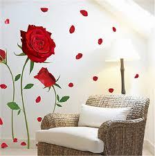 Red Rose Flower Wall Stickers Vinyl Decal Wedding Room Bedroom Decor Art Mural Home Decor Wall Art Wall Stickers Aliexpress