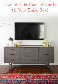 hide tv wires for a cord free wall