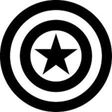 Captain America Captain America Shield Silhouette Vinyl Sticker