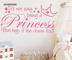 Joyreside Quote It S Not Easy Being A Princess Wall Decal Vinyl Sticker Girls Bedroom Home Decor Interior Decor Wall Decal A591 Wall Stickers Aliexpress