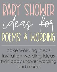 clever baby shower poems verses and