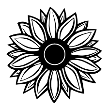 Sunflower Silhouette Vinyl Sticker Car Decal