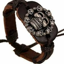 viking pirate gangster biker skull head