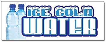 Amazon Com 24 Ice Cold Water Decal Sticker Bottled Water Stand Business And Store Signs Office Products