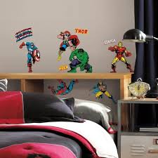 Amazon Com 32 New Classic Marvel Heroes Wall Decals Avengers Stickers Boys Bedroom Decor Kitchen Dining