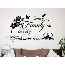 every family story inspirational family wall sticker quote home
