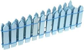 Amazon Com Homeford Miniature Wood Picket Fence 36 Inch Blue Arts Crafts Sewing