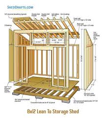 8 12 lean to shed plans blueprints for