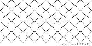 Wire Mesh Seamless Pattern Vector Chain Link Fence Stock Illustration 42293482 Pixta