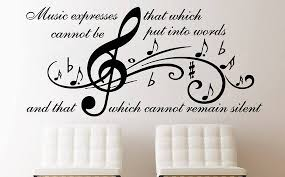 Vinyl Wall Decal Quote Wall Decals Music Quote Vinyl Etsy