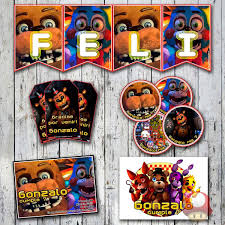 Kit Imprimible Five Nights At Freddy S Personalizado 600 00 En