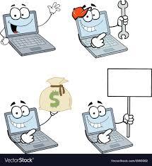 cartoon laptops royalty free vector