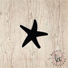 Starfish Vinyl Decal Etsy