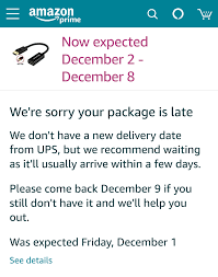 I paid for one day shipping ...