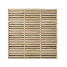 Forest Double Slatted Fence Panel 6 X 6 Pack Of 3 Decorative Fence Panels Screwfix Com