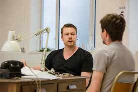 Northern Soul Daniel Rigby in rehearsals for Breaking the Code
