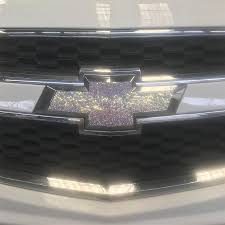 Chevrolet Chevy Bling Rhinestone Front Grill Or Rear Logo Emblem Stick Carsoda