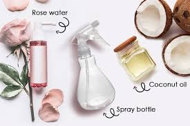 diy hair mist with coconut oil and rose