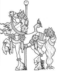 Anti Stress Kleurplaten Paarden Carrousel Paard 11