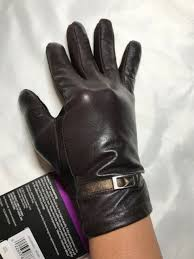lined dress smartouch leather gloves