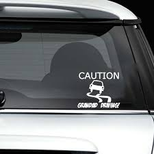 15 12 7cm Caution Grandad Driving Funny Car Window Bumper Sticker Decal Vinyl Hobby Car Bumper Sticker Car Accessories Aliexpress