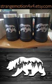 Custom Vinyl Decals For Cups Bear Decal Car Decals Mountain Stickers Laptop Decal Equalmarriagefl Vinyl From Custom Vinyl Decals For Cups Pictures