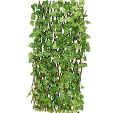 Buy Sofix Expandable Grass Fence Artificial Hedge Green Leaves Garden Decor Balcony Decor Wall Decor Home Decor Expandable To 5 Feet 60 Inch 150cm Pack Of 1 Online At Low Prices In India