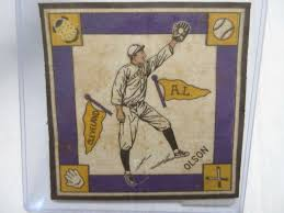 Albrecht Auctions | Original 1914 Cigarette Premium, Designated B-18 Felt  or Blanket, No. 7A of the Set, Ivy Olson of Cleveland, Yellow Pennants  Variation