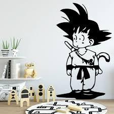 Goku Dragonball Wall Sticker Home Decoration Accessories For Kids Rooms Decor Vinyl Nursery Wall Decal Creative Murals C765 Wall Stickers Aliexpress