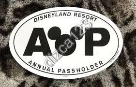 Disney Disneyland Resort Annual Passholder Ap Magnet Car Decal New Ebay