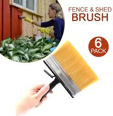 Decorator Diy Garden Paint Brush Shed Fence Paint Brush Fence Creosote Stain Garden Wood Decking Furniture Exterior Quality Bristles Bucket Rest Garden Pack Of 6 Amazon Co Uk Diy Tools