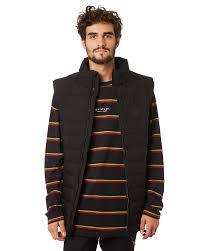 rpm puffer mens vest black surfsch