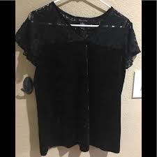 adele & may Tops   Brand New Adele May Blouse Black Velvet Size L   Poshmark